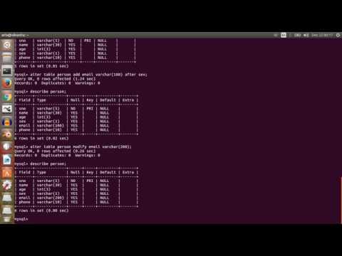 How to use and use of mysql database in ubuntu or linux machine