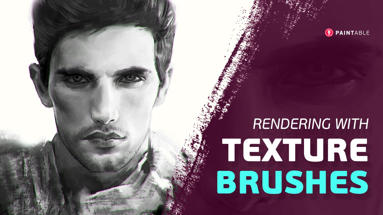 How to Use Texture Brushes in Adobe Photoshop - Digital Painting Tutorial