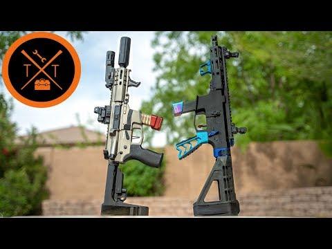 9mm AR 15 Battle // CMMG Banshee Vs. Angstadt Arms