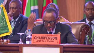 Closing of the African Union Summit.