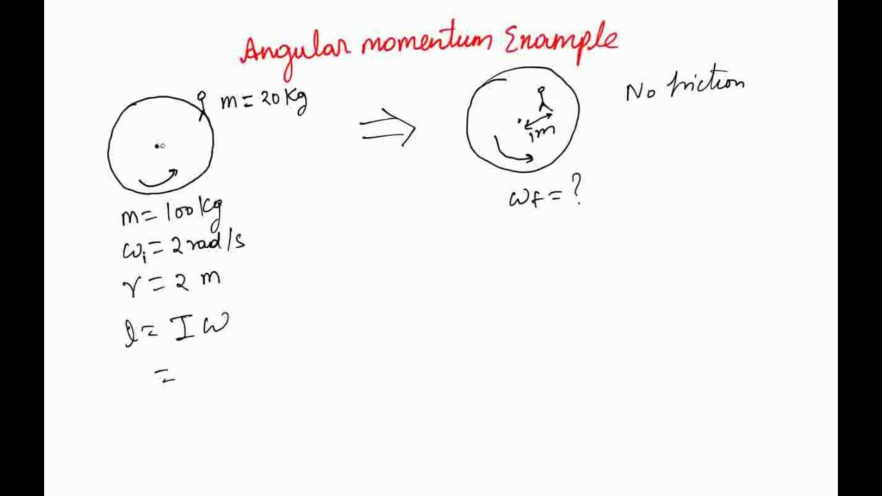 Angular Momentum Example 1 Youtube