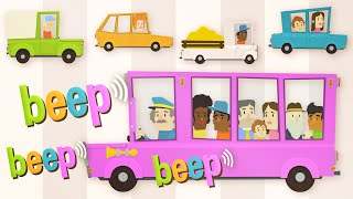 The Wheels on The Bus Go Round And Round Song | Kids Songs | Baby Songs