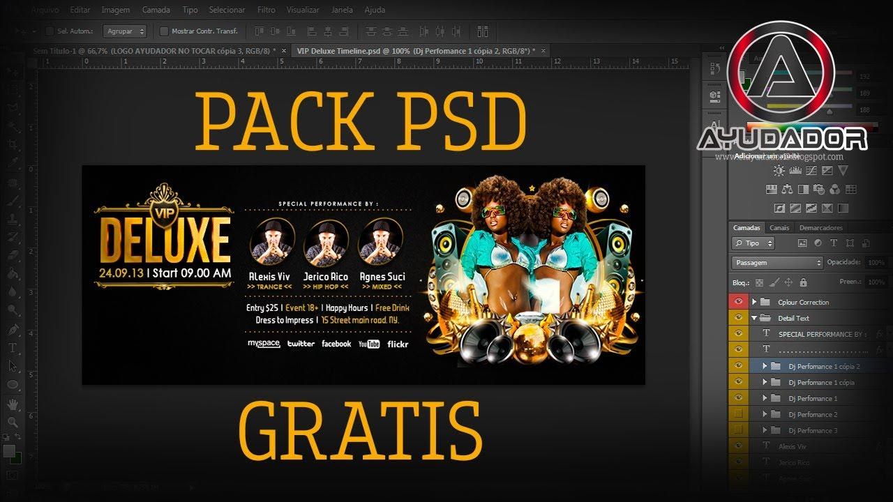 PACK DE PORTADAS DE FACEBOOK EN PSD GRATIS 2017 - YouTube