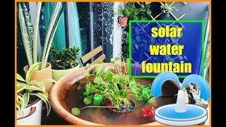 solar water fountain project