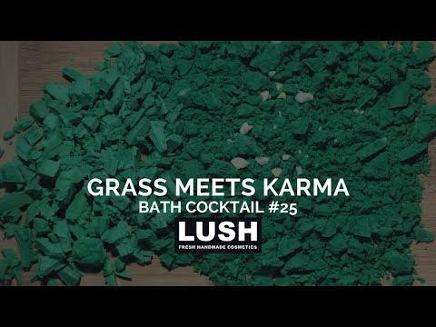 LUSH COSMETICS Bath Cocktail #25: Grass Meets Karma Bath