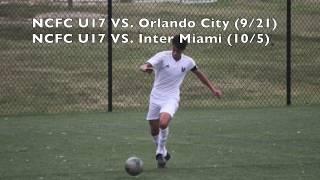 Aaron Messer U17 NCFC Academy vs. Orlando City and Inter Miami Highlights Fall 2019