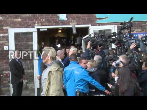 Netherlands: Wilders arrives to cast his general election vote