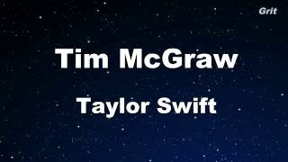 Tim McGraw -Taylor Swift - Karaoke【No Guide Melody】