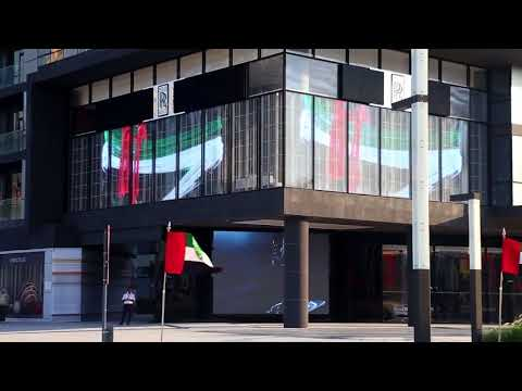 P16 Transparent LED screen Rolls Royce City Walk Dubai clip