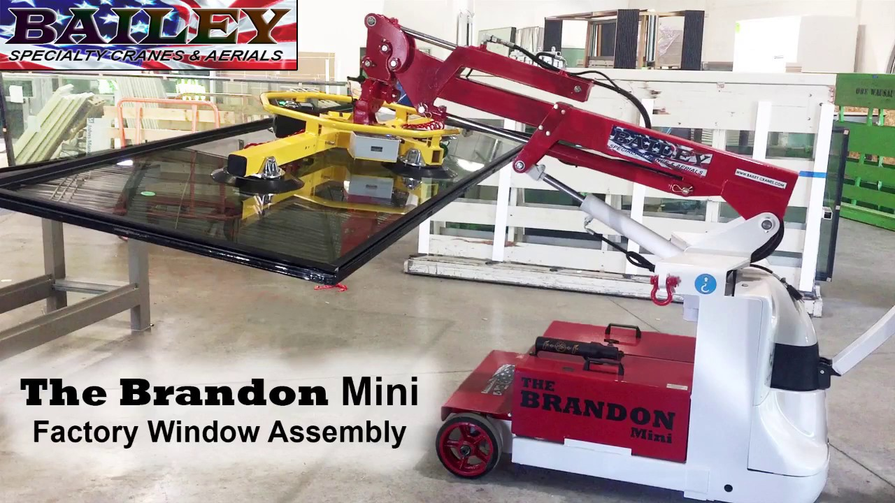 Telehandler Glass Lifters   Bailey Specialty Cranes and Aerials