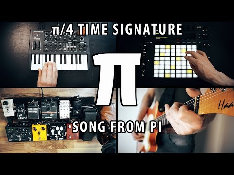 A song from PI - π/4 time signature | Melody of Pi