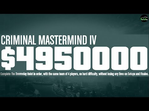 GTA 5 - The Doomsday Heist (Criminal Mastermind Challenge Complete)