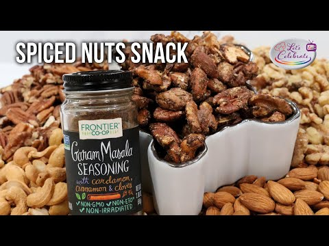 Spiced Nuts Snack - Mixed Nuts with Garam Masala