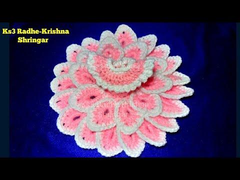 Make Easy Crochet Flower dress for Ladoo Gopal (beginner ...