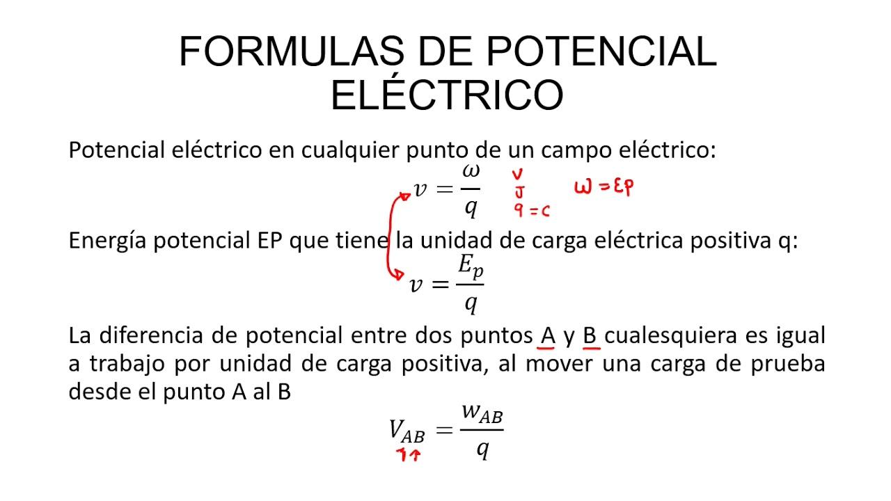 Formulas de potencial Eléctrico | - YouTube