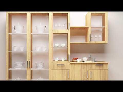 Crockery furniture design|| kitchen corckery cabinet design unit