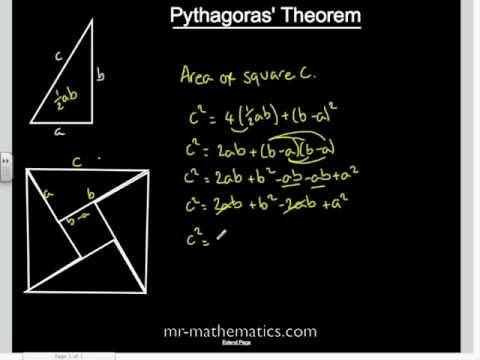 Proof Of Pythagoras Theorem Mathematics Revision Youtube