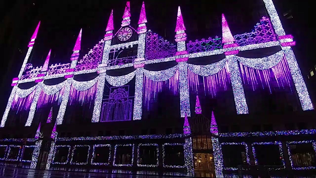 Exceptional Saks Fifth Avenue 2017 Holiday Light Show Test