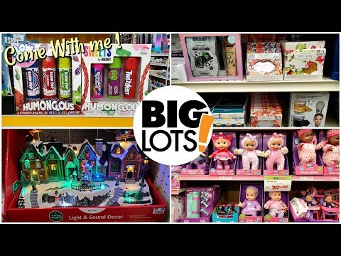 BIG LOTS CHRISTMAS SHOPPING * SHOP WITH ME 2019