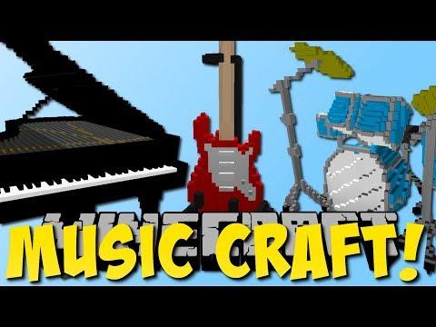 Minecraft MUSIC CRAFT MOD (Schlagzeug, Gitarre, Klavier) [Deutsch]