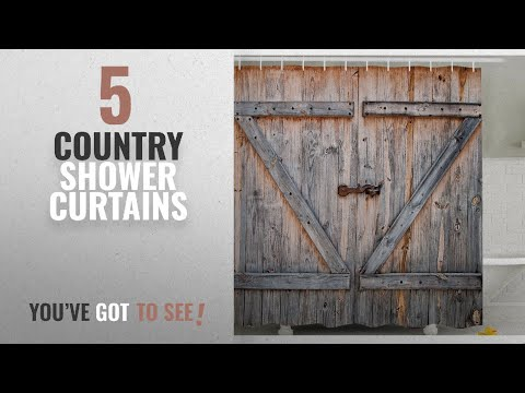 Top 10 Country Shower Curtains [2018]: Fabric Shower Curtain Country Decor By Ambesonne , Old Wooden