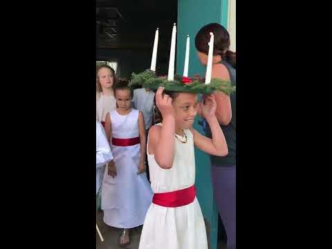 Santa Lucia Day Procession at Sanderling Waldorf School 12-13-16