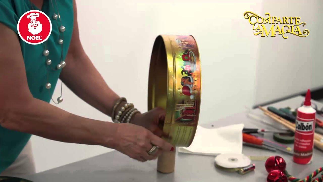 Reloj con cofre circular para navidad youtube - Reloj decorativo de pared ...