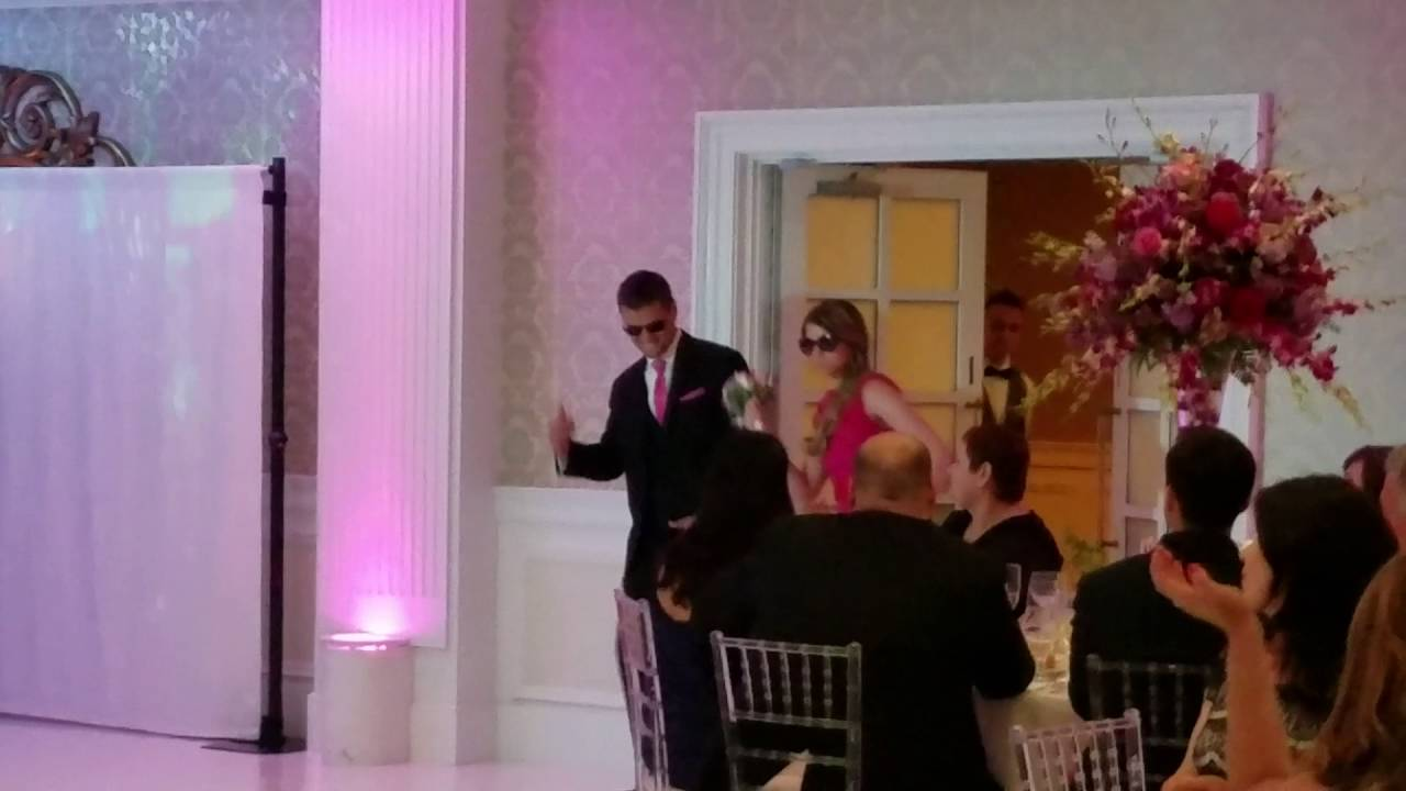 Best wedding party reception entrance  YouTube