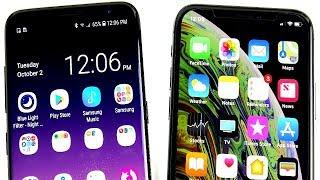 Galaxy S8 vs iPhone XS!