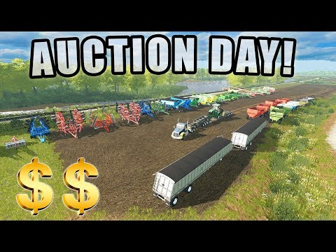 AUCTION DAY FOR LAND & EQUIPMENT! 2018 FARMING TOURNAMENT | EP #1