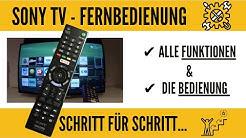 Sony Smart TV alle Funktionen der Fernbedienung. GANZ EINFACH!!!