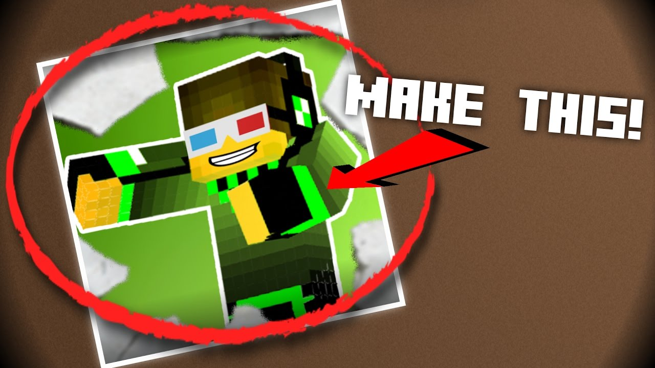 How to make a Minecraft Profile Picture for Youtube ...