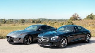 2016 Jaguar F-Type R vs. 2016 Mercedes-Benz AMG GT S(Two loud and ludicrously fast sports coupes. But which one sounds better? Full story, specs and photo gallery: ..., 2016-01-25T15:10:55.000Z)
