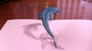 3d Drawing Jumping Dolphin 高校生の自主制作