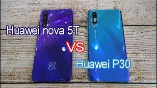 Huawei nova 5T vs Huawei P30 | SpeedTest and Camera comparison