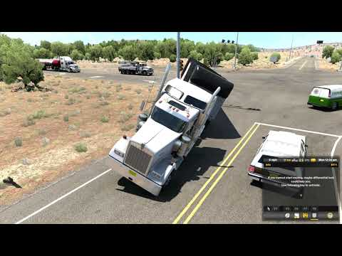 American Truck Simulator New Mexico dlc driving |