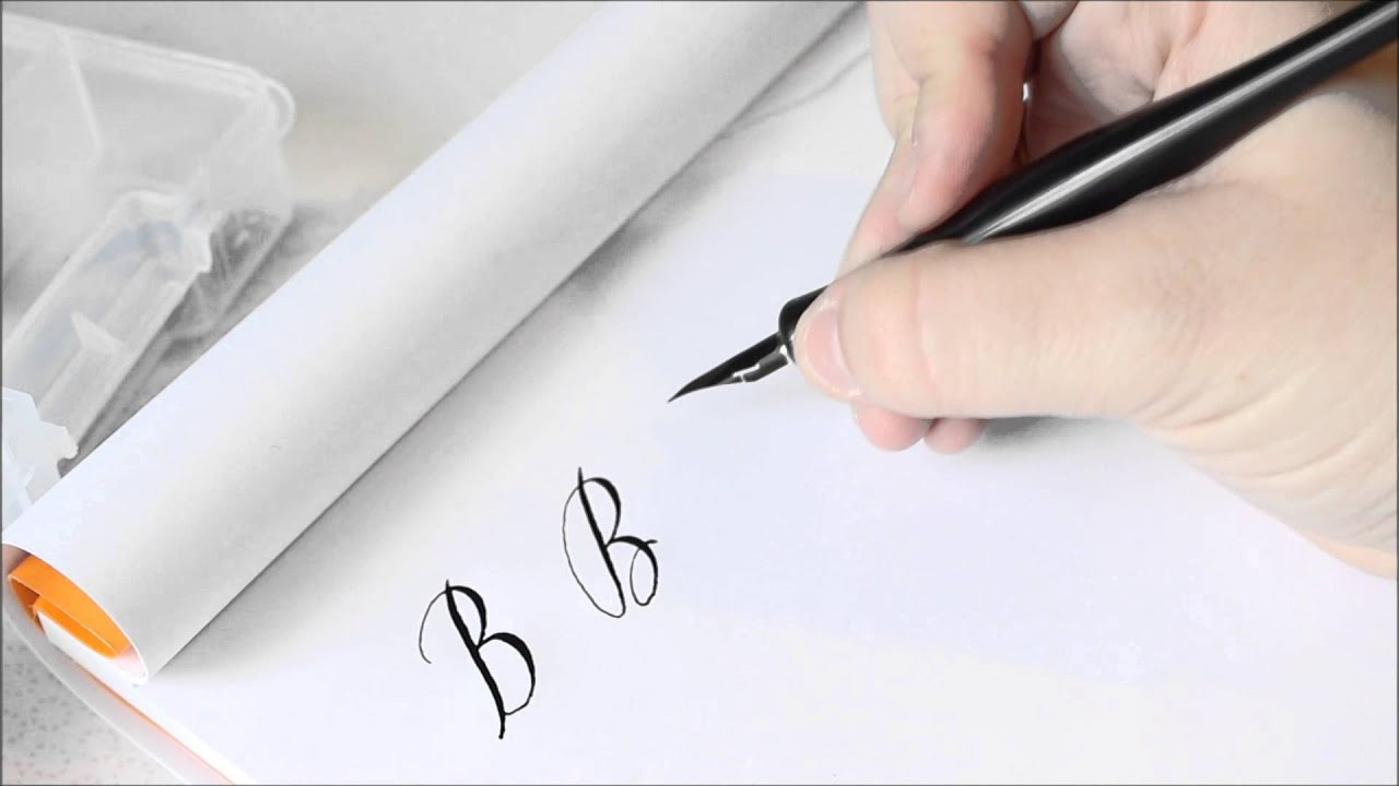 The Letter B Basic Calligraphy Tutorial Youtube