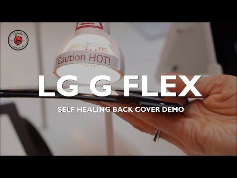 LG G Flex Self Healing Back Cover Demo