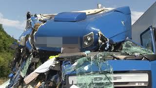 LKW kracht ungebremst in Stauende auf A6 bei Sinsheim – 100.000 Euro Schaden