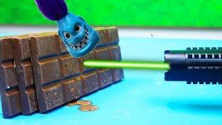 Stärkster Laser VS SCHOKOLADE & SCHMACKERS - Wird es schmelzen?