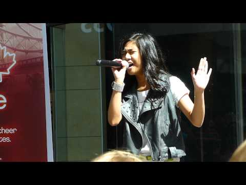 #Winnipeg Superstar Maria Aragon Sings Live at Polo Park July 2012 Celebrate Canada Olympic Athletes