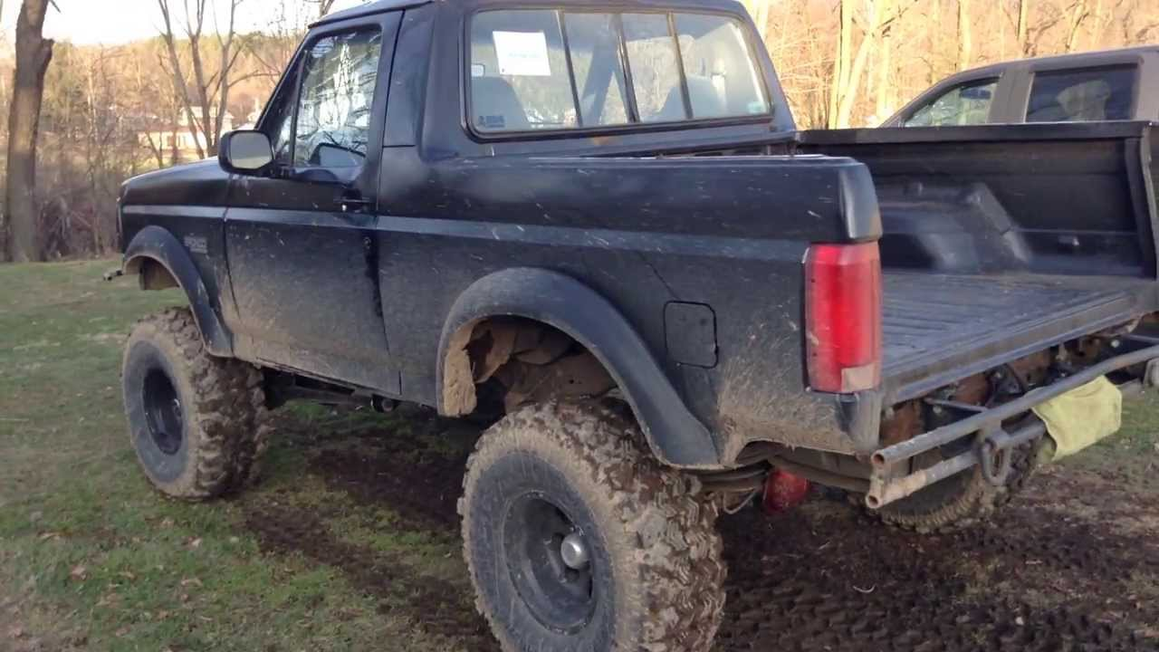 Lifted 2015 F150 >> lifted ford bronco sas half-cab project\toy - YouTube