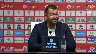 Rueda de prensa de Diego Martínez tras el Granada CF vs Cádiz CF 1 1