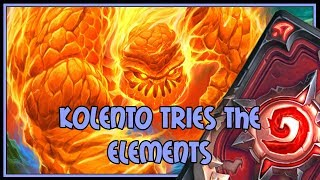 Hearthstone: Kolento tries the elements (elemental mage)