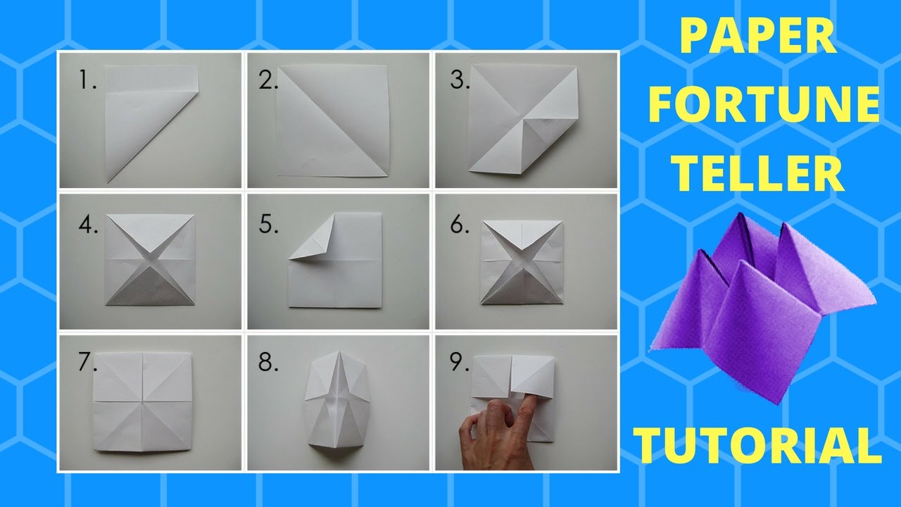 How To Make A Fortune Teller Tutorial Youtube