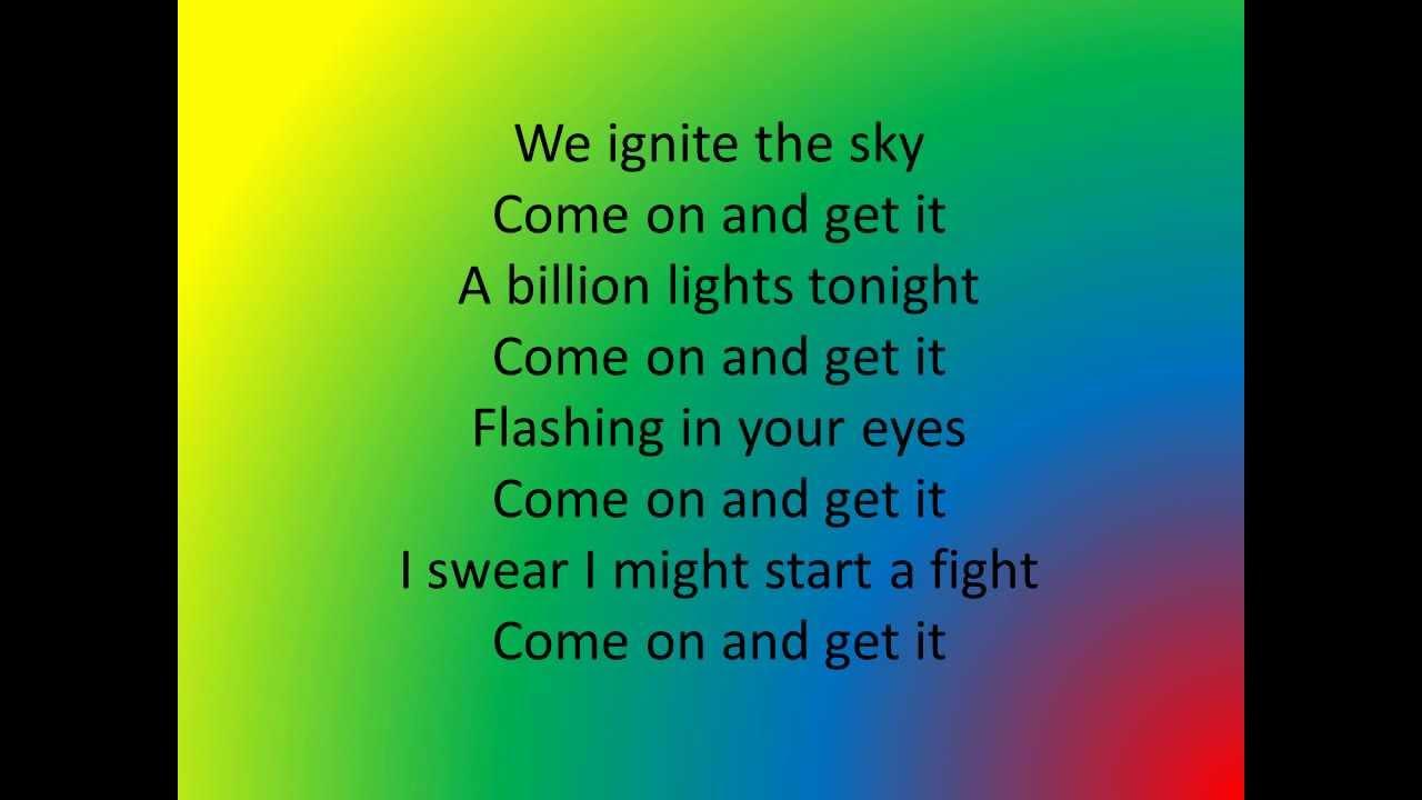JLS Billion Lights - Lyrics JLS Billion Lights - Lyrics
