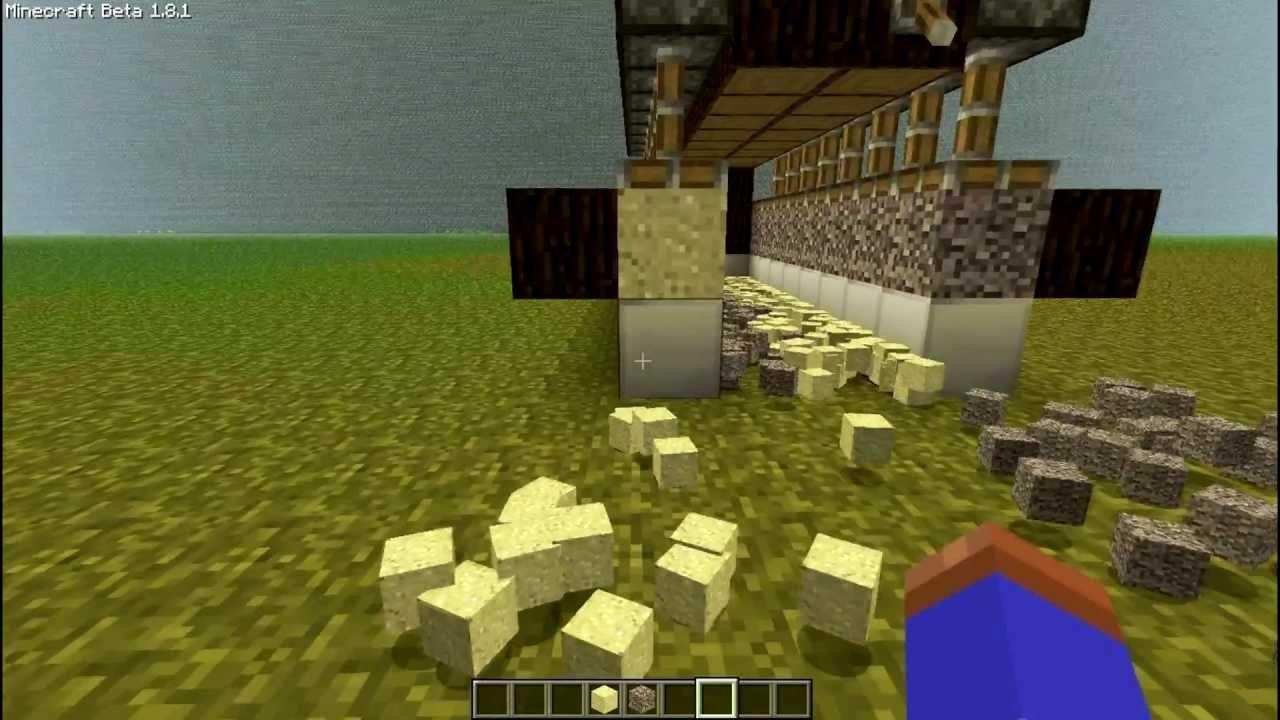 Minecraft 1 8 1 Sand And Gravel Farm Tutorial Youtube