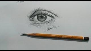 cách vẽ mắt đơn giản bằng chì 6b ._. _ how to draw an eye _ dP Truong