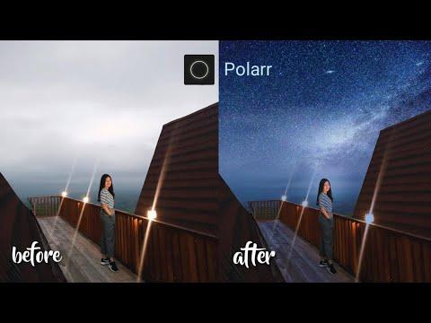 Cara Edit Foto Pakai Hp | Sky Night || Tutorial Polarr || Tutorial Android