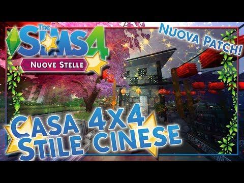 CASA 4X4 BLOCCHI IN STILE CINESE-CHALLENGE-THE SIMS 4 ITA thumbnail
